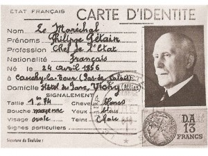 fac simile carte identite petain