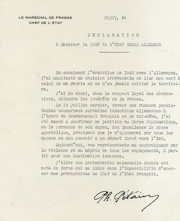 20 août 1944-courrier à Hitler